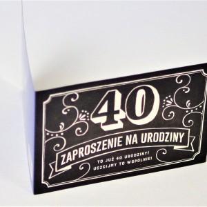 Zaproszenia na urodziny dorosłych z liczbami