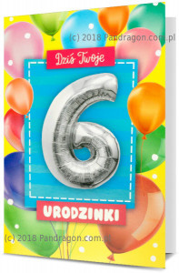 Karnet z balonem K. Balloon-6