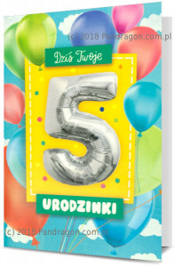 Karnet z balonem K. Balloon-5