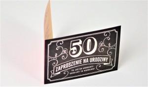 Zaproszenia na urodziny - Zaproszenia na 50 urodziny w stylu Vintage / Z.C6-563