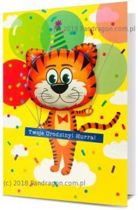 Karnet z balonem K. Balloon-10