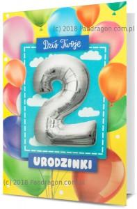 Karnet z balonem K. Balloon-2