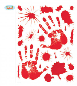 Naklejki z krwią, 30x39 cm