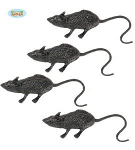 Pająki, robaki, myszy - Plastikowe szczury / 6 cm