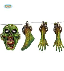 Girlanda z nadrukiem zombie, 150 cm