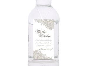 Zawieszki na wódkę weselną, biały i srebrny