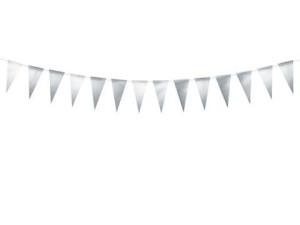 Girlanda flagi, srebrny 2,15 m