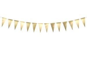Girlanda flagi, złoty 2,15 m