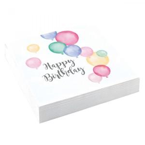 """Serwetki """"Happy Birthday"""", 33x33 cm"""