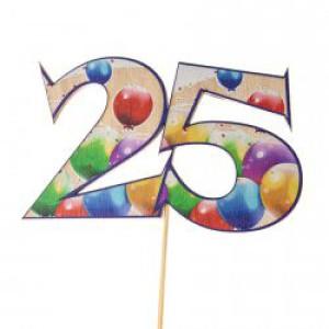 Świeczki i toppery z liczbami na tort urodzinowy dla dorosłych