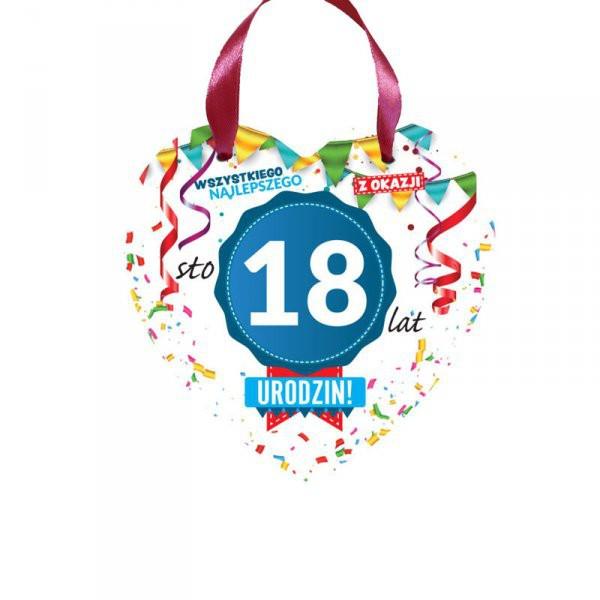 Dekoracje na 18 urodziny, serwetki, świeczki, konfetti