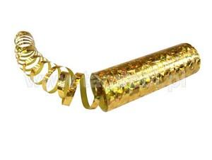 Serpentyna metalizowana holograficzna, złota 12,5cm