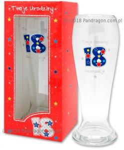 Szklanka do piwa 18 urodziny