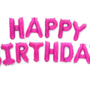 Napisy z balonów na 18 urodziny