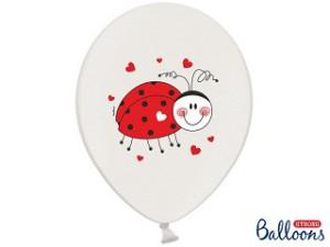 Balony 30 cm Biedronka, Pastel Pure White