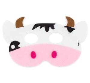 Maski Zwierzęta - Maska Krowa / 18,5x11 cm