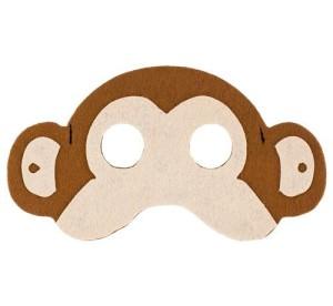 Maski Zwierzęta - Maska Małpa / 17,5x10 cm