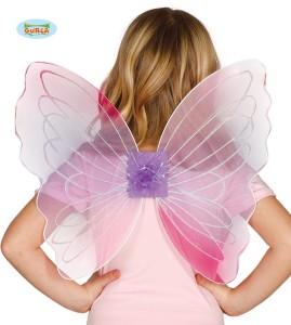 Skrzydła Motyla 60x37 cm, różowe