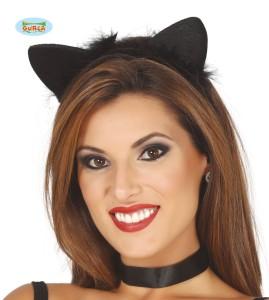 Opaska uszy Kotka, czarne
