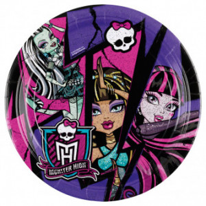 "Talerzyki ""Monster High"", 23 cm"