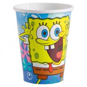 """Kubeczki papierowe """"SpongeBob"""", 266 ml"""