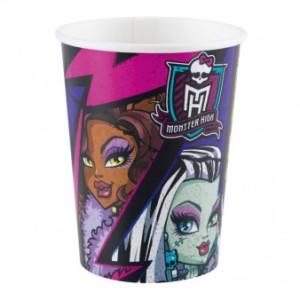 """Kubeczki z bohaterami bajek papierowe - Kubeczki papierowe """"Monster High"""" / 266 ml"""