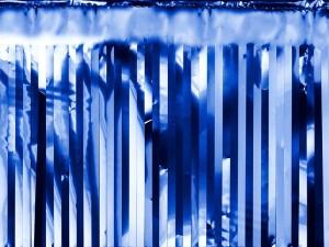Kurtyna Party, niebieski, 18,5x400 cm