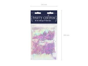 Kurtyna Party, opalizujący, 18,5x400 cm