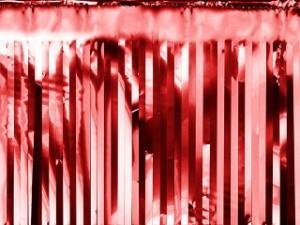 Kurtyny foliowe - Dekoracja - foliowa kurtyna Party, czerwona / 18,5x400 cm