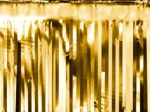 Kurtyny foliowe - Dekoracja - foliowa kurtyna Party, złoty / 18,5x400 cm