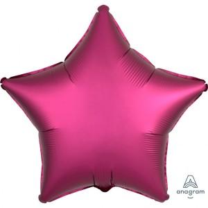 Balony foliowe kształty Satin Luxe - Balon foliowy Satin Luxe - Gwiazda fuksja / 48 cm