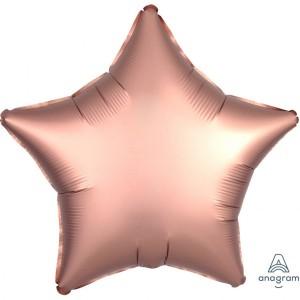 Balony foliowe kształty Satin Luxe - Balon foliowy Satin Luxe - Gwiazda różowe złoto / 48 cm