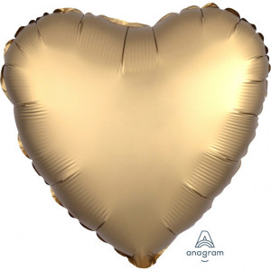 Balony foliowe kształty Satin Luxe - Balon foliowy Satin Luxe - Serce złote / 43 cm