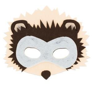 Maski Zwierzęta - Maska Jeż / 19x15,5 cm