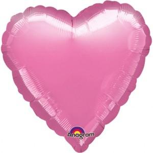 Balony foliowe Serca - Balon foliowy - Serce różowe / 43 cm