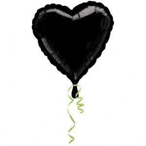 """Balony foliowe Serca - Balon foliowy 17"""" """"Serce"""", czarny"""