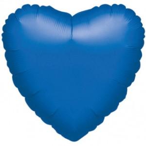 Balony foliowe Serca - Balon foliowy metalizowany - Serce niebieskie / 43 cm