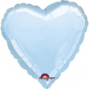 "Balony foliowe Serca - Balon foliowy 17"" ""Serce"", błękitny"