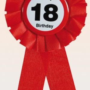 Akcesoria dla jubilatki/jubilata na 18 urodziny