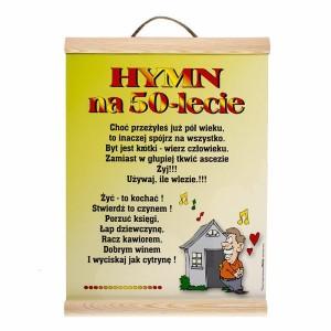 """Dyplomy - Dyplom na urodziny """"50 urodziny"""" / WER-DYPLOM-022-KOLOR"""