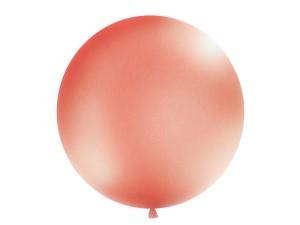 Balony lateksowe Olbo - Balon lateksowy OLBO - metalizowany różowe złoto (Rose Gold) / średnica 1 m