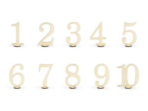 Numery na stół - Drewniane numery na stoły w stylu rustykalnym / 10,5 cm