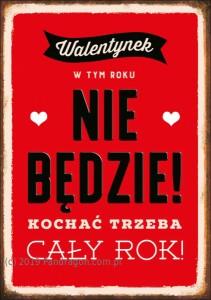 Kartki okolicznościowe uniwersalne - Karnet na Walentynki / K.B6-1635