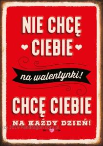 Kartki okolicznościowe uniwersalne - Karnet na Walentynki / K.B6-1632