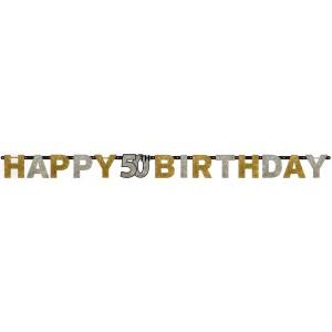 "Girlandy napisy - Girlanda urodzinowa ""Happy 50 Birthday"" / 120206"
