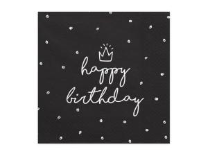 """Serwetki papierowe z napisami - Serwetki """"Happy Birthday"""" / SP33-15-010"""