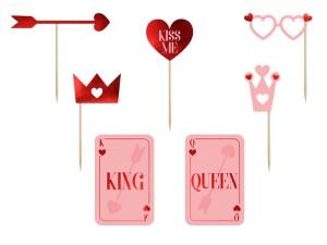 Karteczki i tabliczki do fotobudki - Rekwizyty do fotobudki na Walentynki