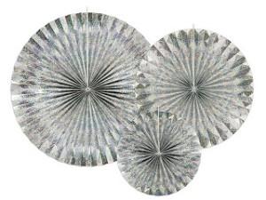 Rozety dekoracyjne - Rozety dekoracyjne, holograficzne / średnica 23,32 i 40 cm