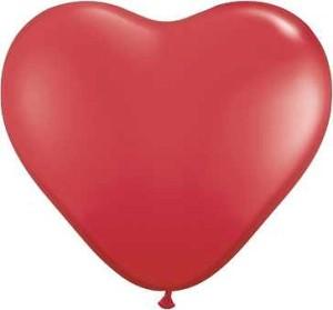 """Balony lateksowe o nietypowych kształtach - Balony lateksowy 16"""" """"Serce"""" / 100 szt"""