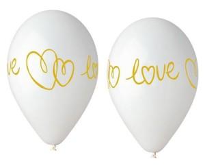 """Balony lateksowe w serduszka - Balony lateksowe 13"""" """"Love"""""""